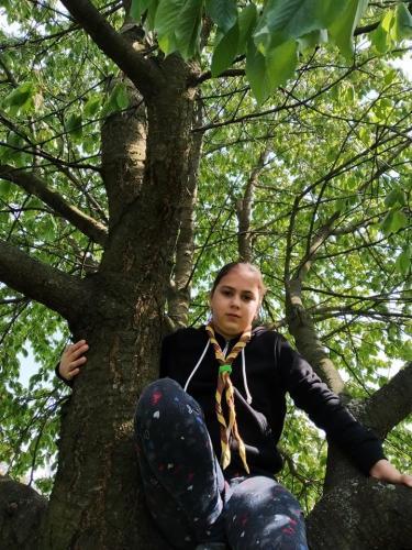 017 Klárka - lezenie na strom (Pohybov)